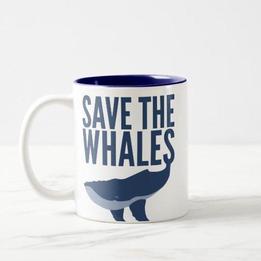 Ahorre la taza de las ballenas