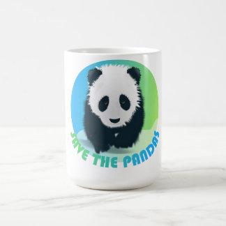 Ahorre la taza de las pandas