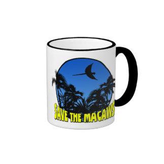 Ahorre la taza de los Macaws