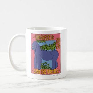Ahorre la taza del gorila