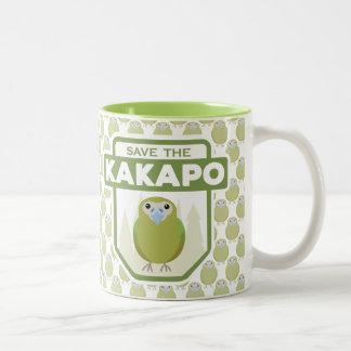 Ahorre la taza del loro del Kakapo