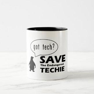 Ahorre la taza en peligro de Techie
