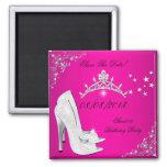 Ahorre la tiara rosada de los zapatos de los tacon imán para frigorifico