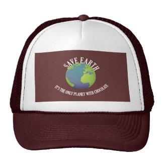 ahorre la tierra que es el único planeta con el ch gorras