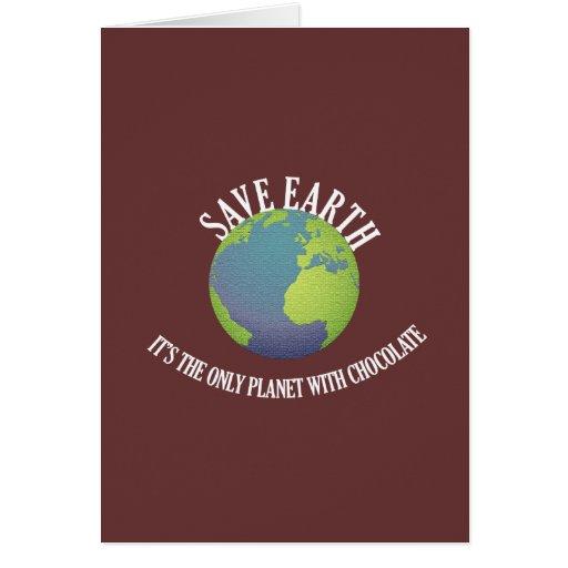 ahorre la tierra que es el único planeta con el ch felicitaciones