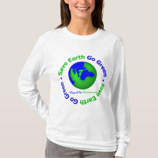 Ahorre la tierra van ayuda verde el ambiente playera