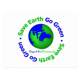 Ahorre la tierra van ayuda verde el ambiente postal