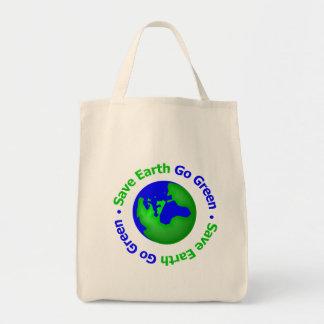 Ahorre la tierra van circular verde bolsas