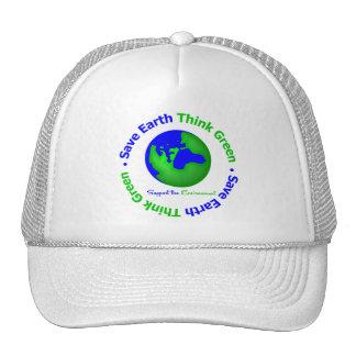 Ahorre la tierra van globo verde gorra
