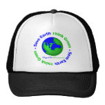 Ahorre la tierra van globo verde gorras