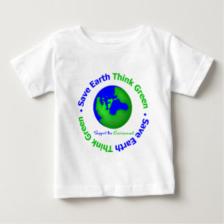 Ahorre la tierra van globo verde playeras