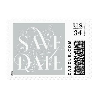 Ahorre la tipografía del Flourish de la fecha - Sellos Postales