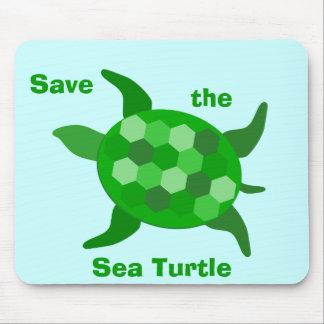 Ahorre la tortuga de mar alfombrilla de raton