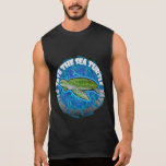 Ahorre la tortuga de mar camiseta sin mangas