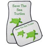 Ahorre la tortuga de mar con 2 tortugas verdes alfombrilla de coche