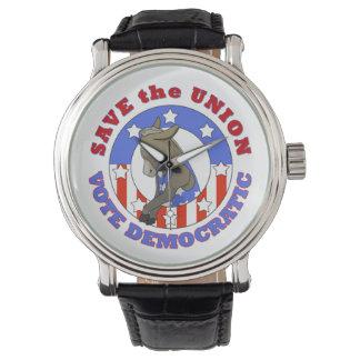 Ahorre la unión/el reloj Democratic
