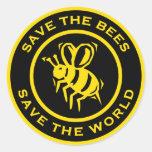 Ahorre las abejas ahorran el mundo pegatina