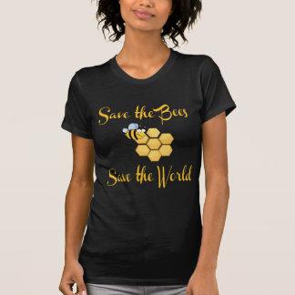 Ahorre las abejas ahorran el mundo camisetas