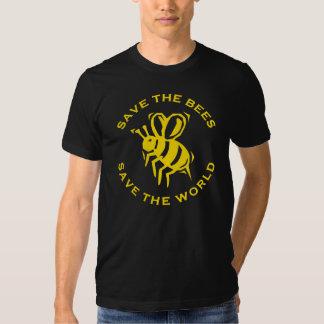 Ahorre las abejas ahorran el mundo playera