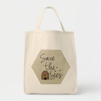 Ahorre las abejas bolsa tela para la compra