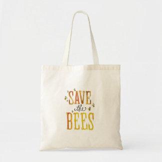 Ahorre las abejas bolsa lienzo