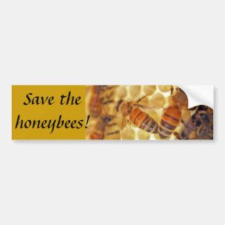 ¡Ahorre las abejas! Pegatina Para Auto