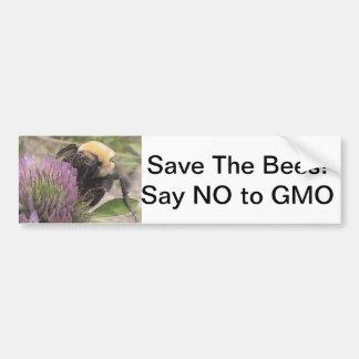 Ahorre las abejas dicen no a la pegatina para el p pegatina para auto