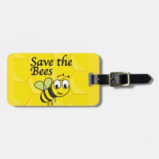 Ahorre las abejas etiquetas maletas