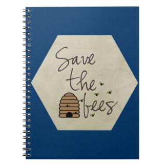 Ahorre las abejas libros de apuntes