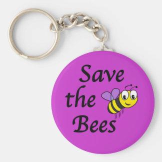 Ahorre las abejas llaveros personalizados