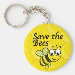 Ahorre las abejas llaveros