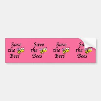 Ahorre las abejas pegatina para auto