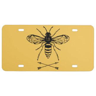 Ahorre las abejas placa de matrícula