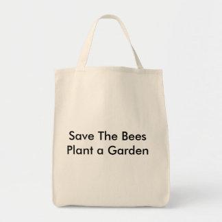 Ahorre las abejas plantan un jardín bolsa de mano