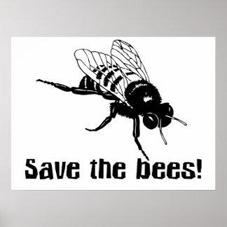 Ahorre las abejas póster