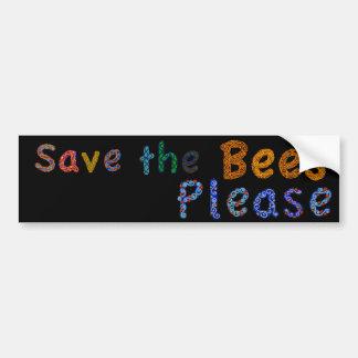 Ahorre las abejas satisfacen a la pegatina para el pegatina para auto