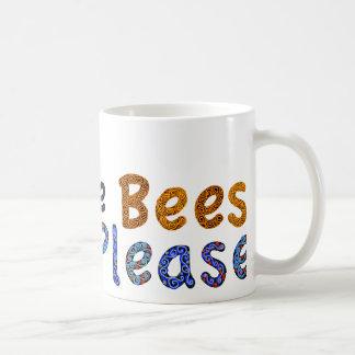 Ahorre las abejas satisfacen la taza de café