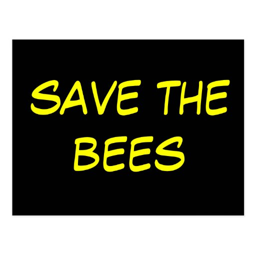 ahorre las abejas tarjeta postal