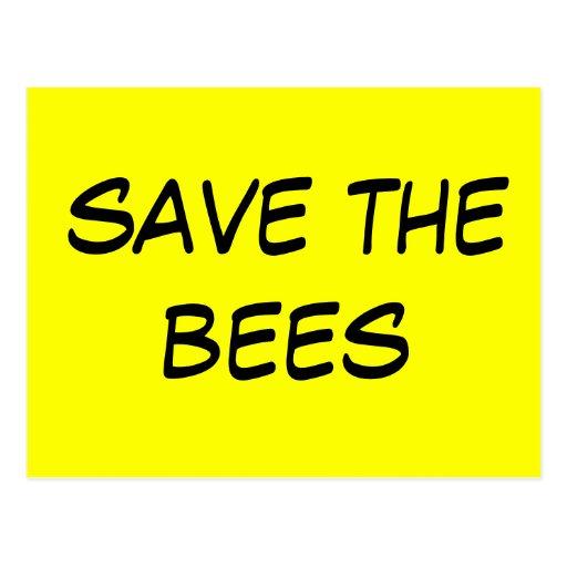 ahorre las abejas tarjetas postales