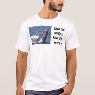 Ahorre las ballenas, ahorre el mundo playera