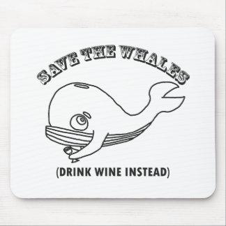 Ahorre las ballenas alfombrilla de raton
