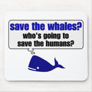 ¿Ahorre las ballenas? Alfombrilla De Raton