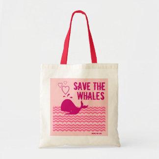 Ahorre las ballenas - ambientalmente conscientes bolsas