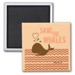 Ahorre las ballenas - ambientalmente conscientes imán para frigorifico