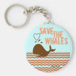 Ahorre las ballenas - ambientalmente conscientes llavero