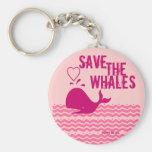 Ahorre las ballenas - ambientalmente conscientes llavero personalizado