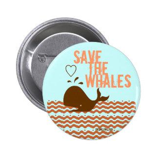 Ahorre las ballenas - ambientalmente conscientes pins