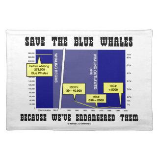 Ahorre las ballenas azules porque las hemos puesto mantel