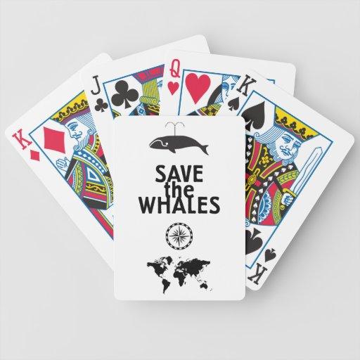 Ahorre las ballenas baraja cartas de poker