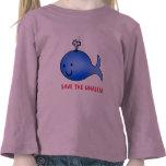 ¡Ahorre las ballenas! Camiseta